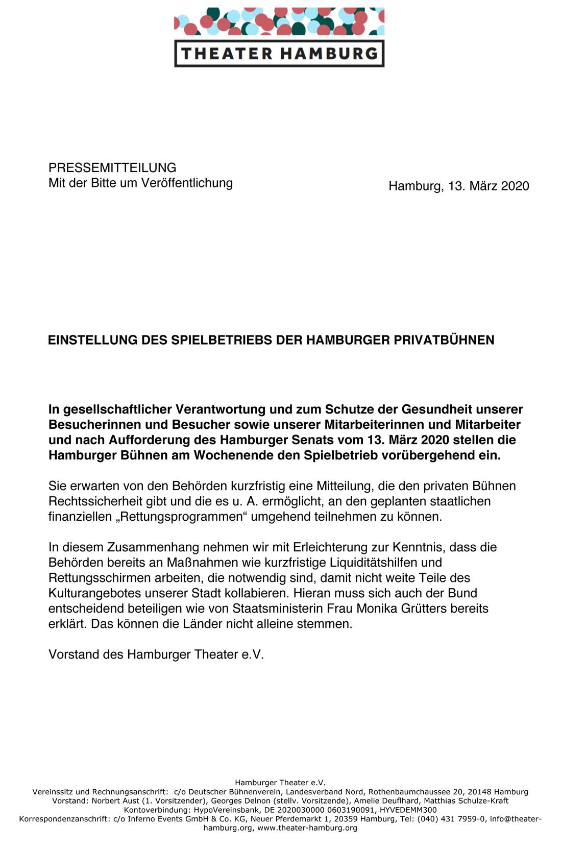 Die BURG - Theater am Biedermannplatz, stellt seinen Betrieb ein.