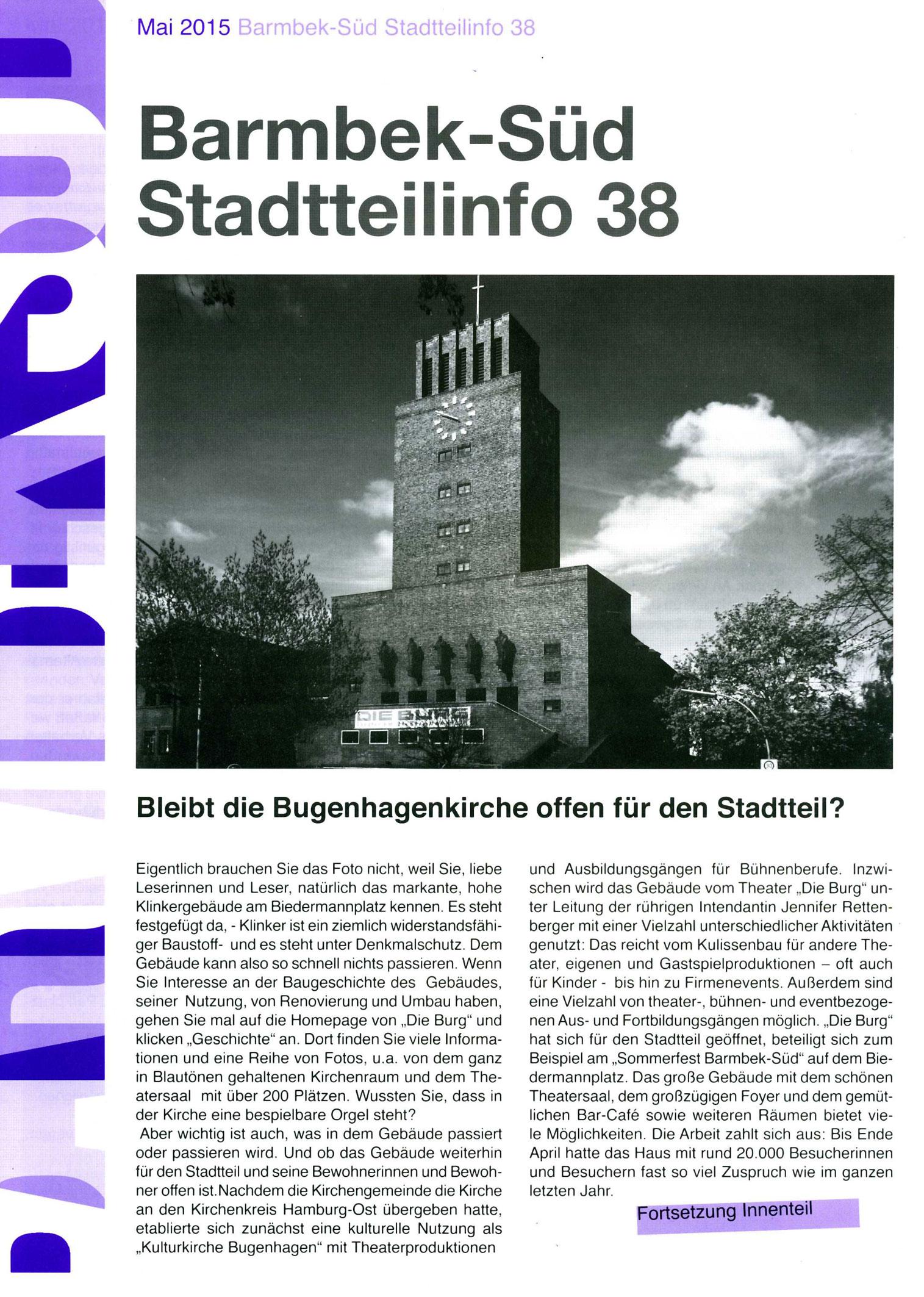 Bugenhagenkirche Barmbek Süd,Stadtteilrat, Info1