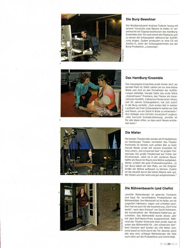 """Artikel in """"Theatralisch"""" Ausgabe 8, Nov. 2013"""
