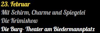Mit Schirm, Charme und Spiegelei...